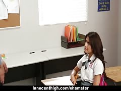InnocentHigh - Ava Mendes Fucks Her Teacher For An A+ Thumb