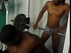 Black Couple Fucking in Gym Thumb