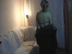 Tanned long-legged Russian is being screwed in the bedroom Thumb