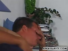Busty amateur girlfriend home action with cum on tits Thumb