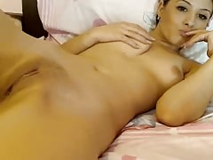 Cute Teen Playing With Her Pussy Thumb