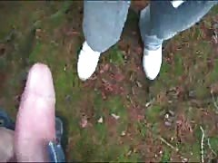 Hardcore face-fucking in the woods with lusty girlfriend Thumb