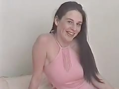 Slutty brunette is showing her tits and pussy at castings Thumb
