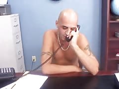 Bald male is banging a busty young babe in her mouth Thumb