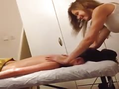 Sexy young israeli woman doing massage Thumb
