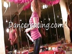 Fully clothed Dancerbating teen is trying hard to masturbate Thumb