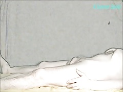 A Scanner Darkly. Cartoon Turquoise Heel Job Cock Tease by Sylvia Chrystall Thumb