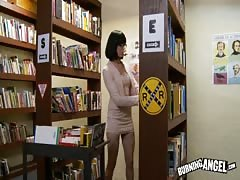 Slutty librarian being drilled hard in her wide mouth Thumb