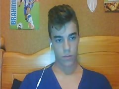 Portuguese Cute Boy With Nice Cock & Smooth Ass On Cam Thumb