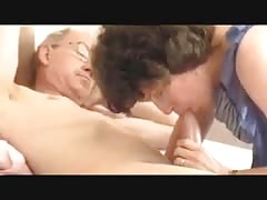 Grandpa's big cock, attractive mature - morning blowjob Thumb