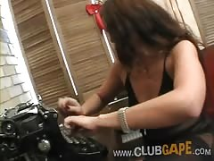 Club Gape girl is being brutally fucked in her face Thumb