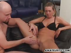 Amateur girlfriend threesome with double penetration and cum Thumb