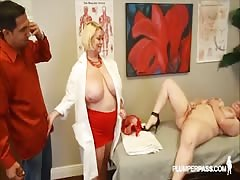 Busty Doctor Samantha 38G Fucks Sexy NIkky Wilder and Stud Thumb