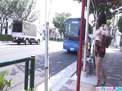 Public japan blow job and creampie with Chinatsu Thumb