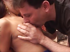 Cock sucking indian hooker gets cunt licked, fucked and creamed Thumb