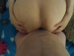 Russian beauty is jumping on a huge dick in the POV scene Thumb