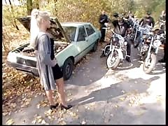 Dirty Blonde Fucked by Biker Gang ((FYFF)) Thumb