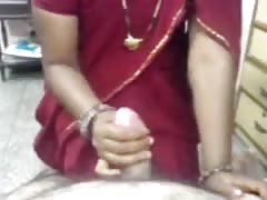 Indian in red saree Thumb