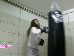 Workout with gorgeous hottie with sporty body Thumb