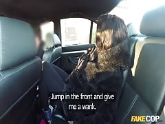 Awesome sex in the car with a cop in the video by Fake Cop studio Thumb