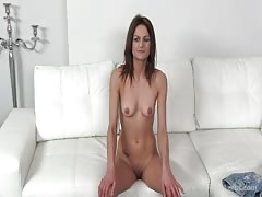 Slender whore taking my dick and trying to suck it deep Thumb