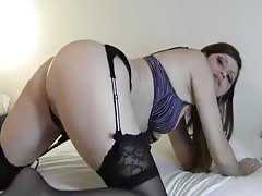 Sexy Amateur Cougar Plays With Her Ass Inserting Dildo Thumb
