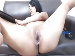 Latina VictoriaK Fucks Her Pussy and Big Ass Thumb