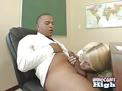Cock-addicted blonde is being screwed in the missionary pose Thumb