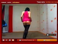 Truly slender Russian chick slowly undresses on the cam Thumb