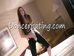Awesome Dancerbating girl is dancing with her lovely dildo Thumb
