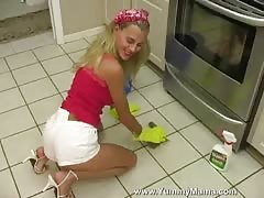Hot slender blonde wife enjoys her boyfriend's dick in the kitchen Thumb