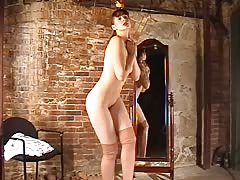 Stunning casting amateur goes naked in the cam without shame Thumb