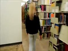 Blond Amateur fucked in Library Thumb
