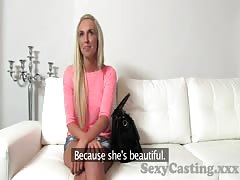 Casting Blonde babe sucks and fucks in interview Thumb