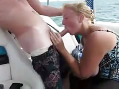 Mature Swinger Wife Deepthroat On a Boat... Thumb