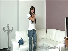 Casting HD Cute brunette gets creampie in casting Thumb