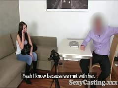 Casting Brunette amateur takes Creampie in casting interview Thumb