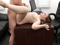 Hot young lass is sucking a huge dick in Backroom Casting Couch video Thumb