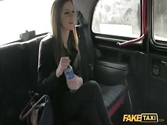 Great-looking lady is taking driver's dick deep in the mouth Thumb