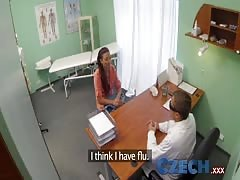 Czech Doctor intimately examines a married woman Thumb