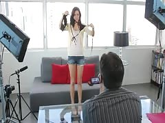 Gorgeous action with a long-legged beauty in the video by Casting Couch X Thumb
