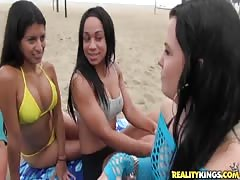 Sweet ladies showing hot boobies in Money Talks video Thumb
