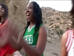 black cheerleader orgy Thumb