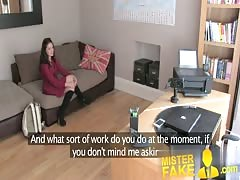 MisterFake Pert round ass spanked and fucked on casting cou Thumb