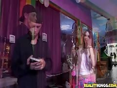 Ebony and whitey posing topless in Money Talks video Thumb