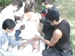 Dogging - Wife with anonymous Strangers Thumb