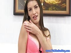 Euro blowjob babe receives facial Thumb