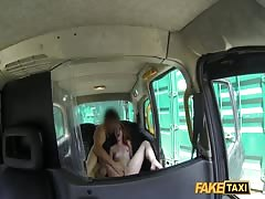 Adorable redhead fucks in doggy pose with Fake Taxi driver Thumb