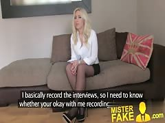MisterFake Mistaken job interview for sexy blue eyed blonde Thumb