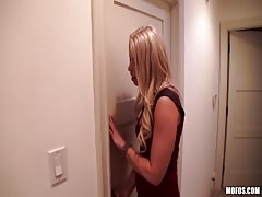 Slutty blondes filming nice action in the bedroom with cam Thumb